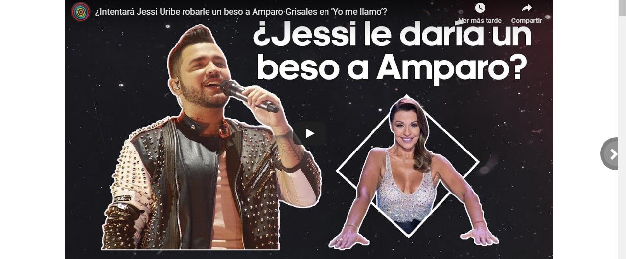 ¿Intentará Jessi Uribe robarle un beso a Amparo Grisales en 'Yo me llamo'?