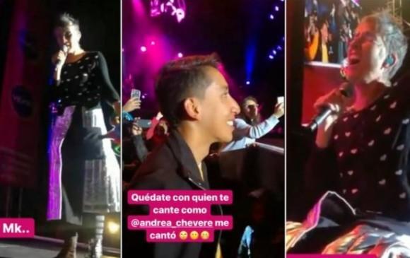 Andrea Echeverri le cantó a Egan Bernal