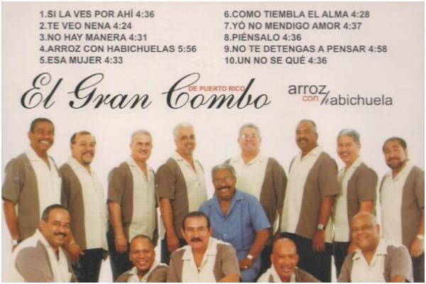 ASÍ NACIÓ 'ARROZ CON HABICHUELA' DEL GRAN COMBO DE PUERTO RICO